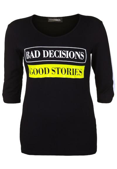 Doris Streich Shirt 'GOOD STORIES' in schwarz, Produktansicht