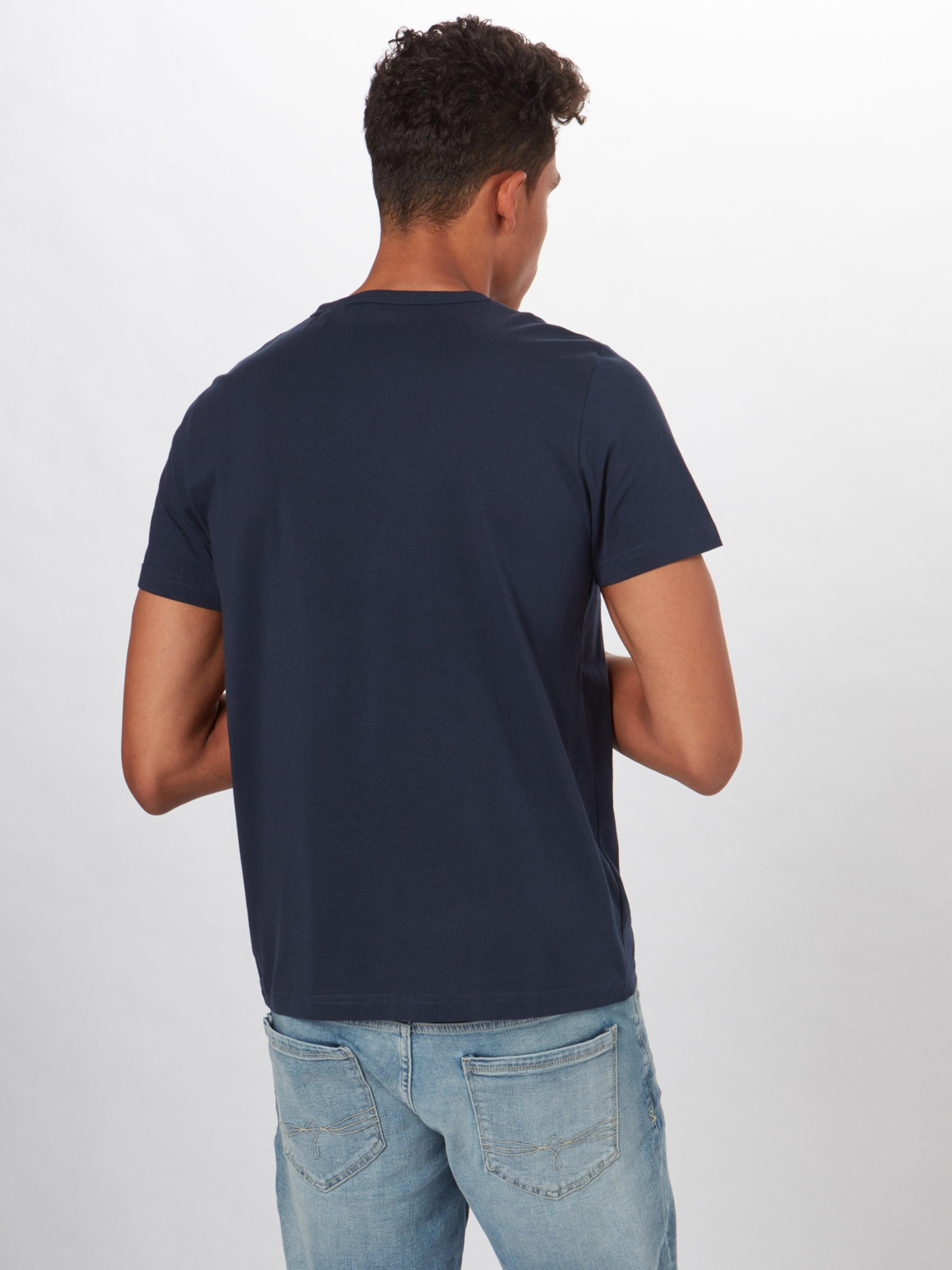 Label shirt En Red T oliver Bleu S Foncé 4L35jARq