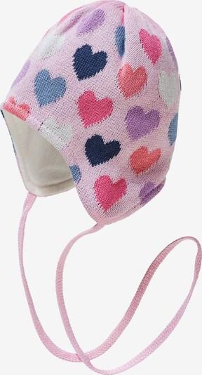 DÖLL Strickmütze in rauchblau / dunkelblau / pink / rosa / weiß, Produktansicht