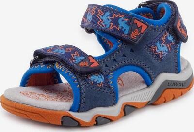 LURCHI Sandale 'Brian' in blau / orange, Produktansicht