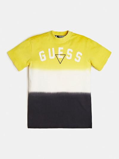 GUESS KIDS T-Shirt in gelb / schwarz / weiß: Frontalansicht