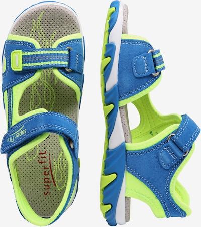 SUPERFIT Sandale 'Mike 2' in blau / neongrün: Seitenansicht