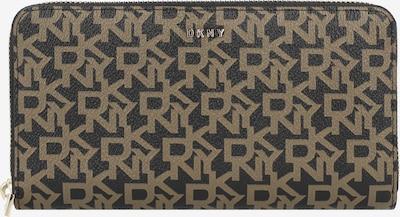 DKNY Porte-monnaies 'BRYANT' en brun foncé / jaune foncé / or, Vue avec produit