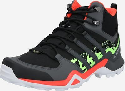 Auliniai batai 'Terrex Swift R2 Mid Gore Tex' iš ADIDAS PERFORMANCE , spalva - tamsiai pilka / neoninė žalia / juoda, Prekių apžvalga