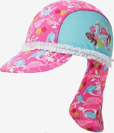 PLAYSHOES Mütze 'Flamingo' in türkis / gelb / pink / weiß, Produktansicht