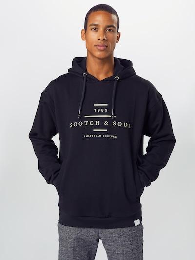 SCOTCH & SODA Sweat-shirt en noir: Vue de face