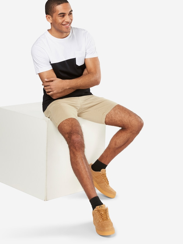 Urban Classics T-Shirt 'Color Block Summer Pocket'