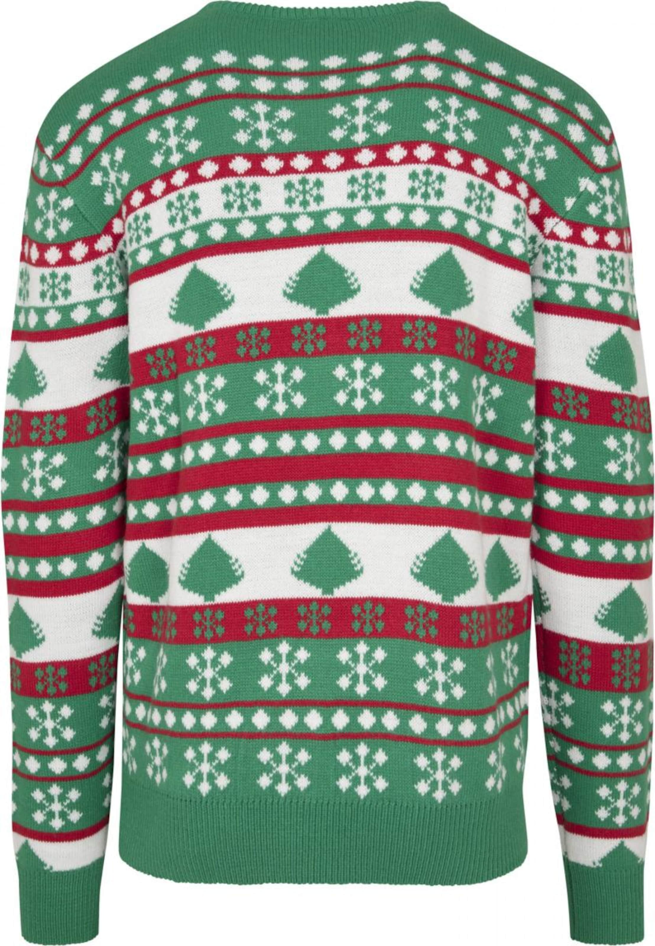 Urban Christmas In Mischfarben Sweater 'snowflake Tree' Classics 08PkOwn