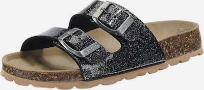 SUPERFIT Pantoletten in hellbraun / schwarz, Produktansicht