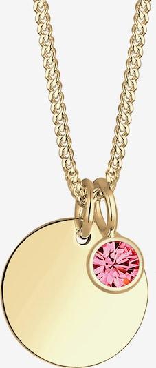 ELLI Kette 'Geburtsstein' in gold / pink, Produktansicht