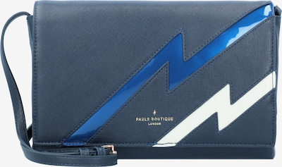 PAULS BOUTIQUE LONDON Schoudertas 'Chilworth' in de kleur Blauw / Duifblauw / Wit, Productweergave
