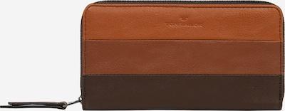 TOM TAILOR Porte-monnaies 'Ellen' en marron / marron châtaigne / cognac, Vue avec produit