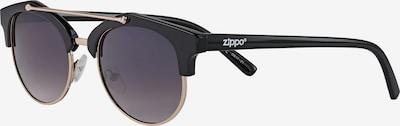 ZIPPO Sonnenbrille Schwarz mit Steg in schwarz, Produktansicht