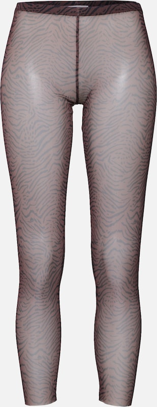 EDITED Leggings 'Marten' in braun / schwarz, Produktansicht
