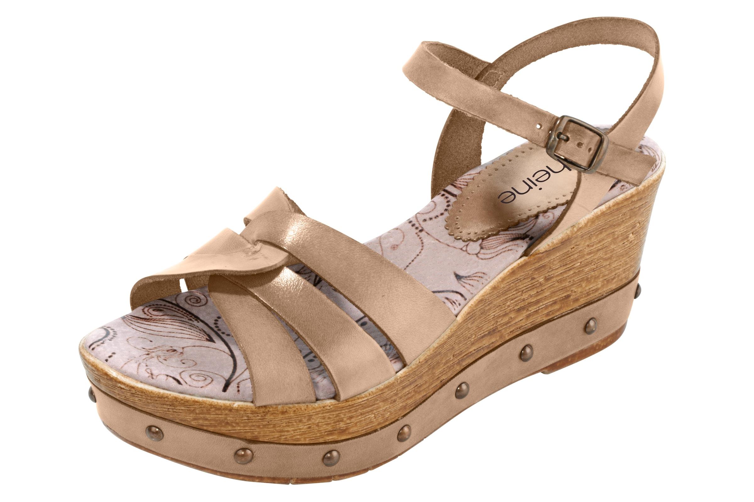 heine Keilsandalette Günstige und langlebige Schuhe