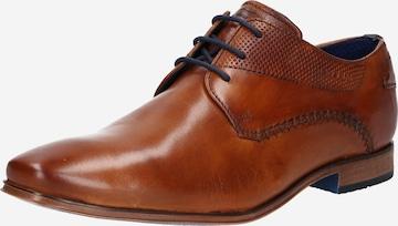 Pantofi cu șireturi 'Morino' de la bugatti pe maro
