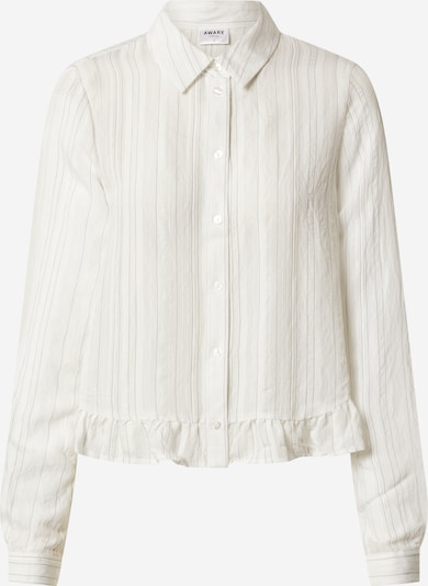 VERO MODA Bluzka 'VMKATA LS FRILL SHIRT VMA' w kolorze białym: Widok z przodu