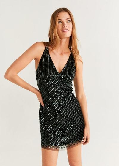 MANGO Kleid 'Sophia' in tanne / schwarz, Modelansicht