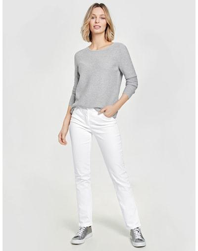 GERRY WEBER Hose Jeans lang Figurformende Hose Best4me Kurzgröße in weiß, Modelansicht