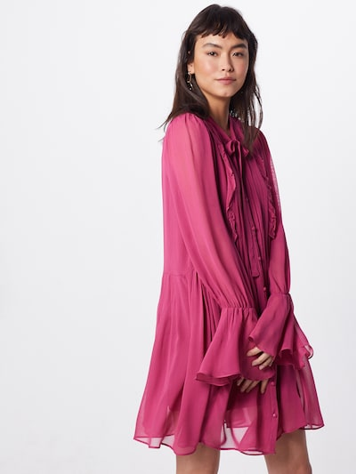 Farina Opoku Sukienka koszulowa w kolorze ciemnoróżowym: Widok z przodu