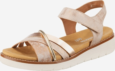 REMONTE Sandale in gold / rosa, Produktansicht