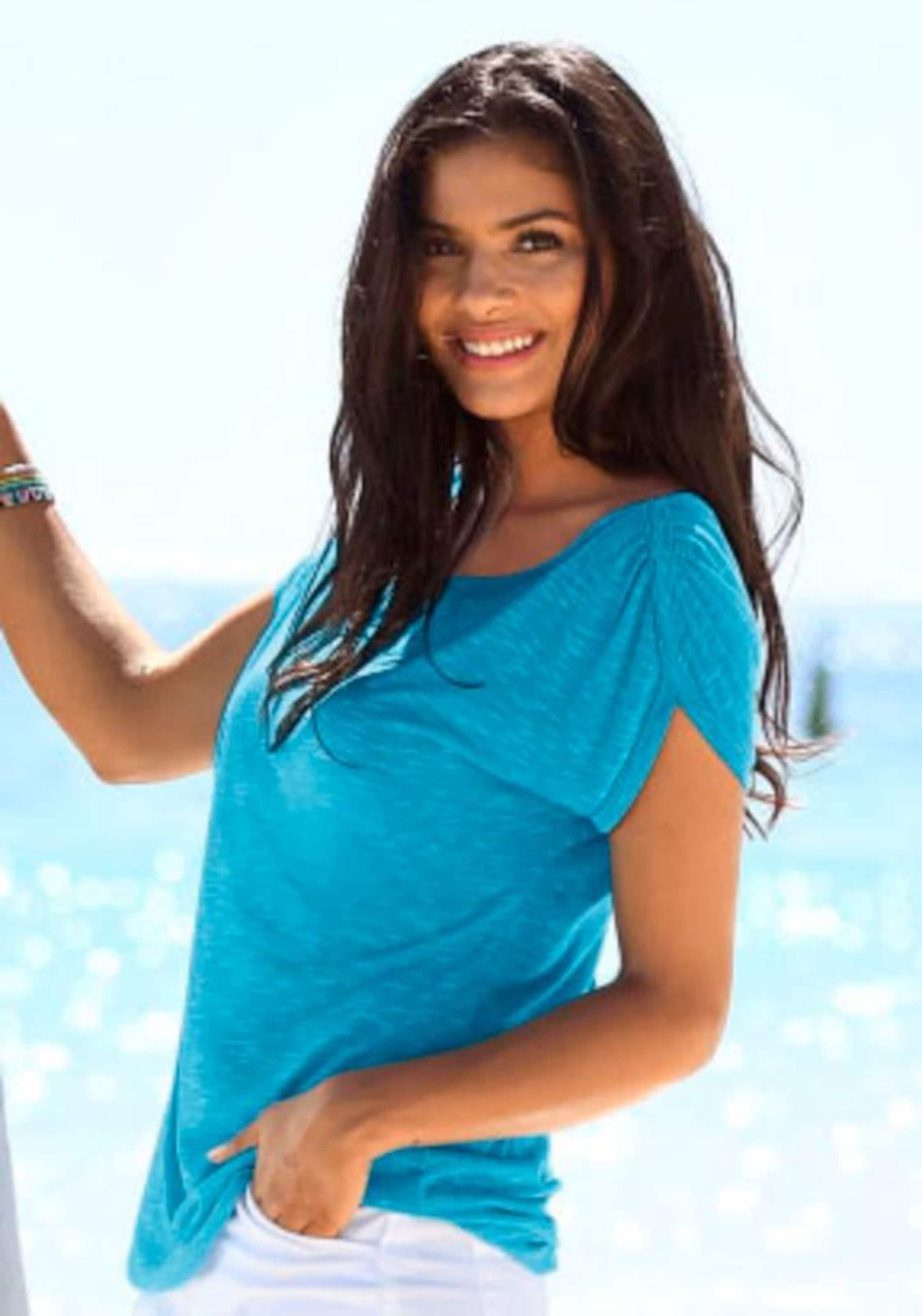 shirt T Lascana shirt T Lascana Lascana In Blau In Blau T shirt b76fgYy