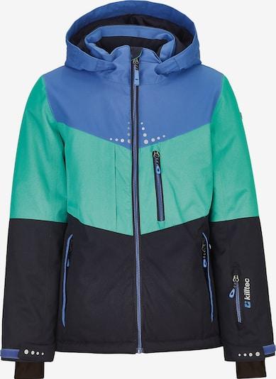 KILLTEC Skijacke 'Iolana Jr' in blau / nachtblau / jade: Frontalansicht