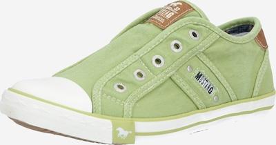 MUSTANG Sneaker in grün / weiß, Produktansicht