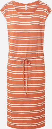 Blend She Jurk 'BSCELESTE L DR' in de kleur Sinaasappel / Wit, Productweergave