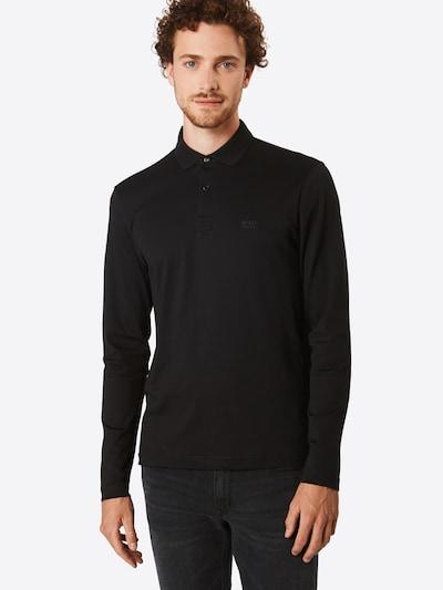 BOSS ATHLEISURE Poloshirt 'Pirol' in schwarz: Frontalansicht