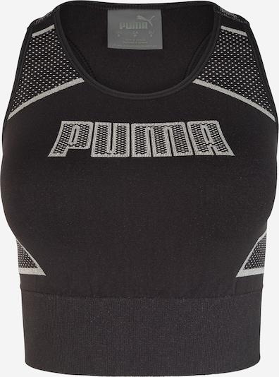 PUMA Sporttop 'Evostripe evoKNIT' in de kleur Zwart / Wit, Productweergave