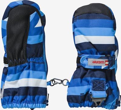 LEGO WEAR Skifäustlinge in blau / himmelblau / dunkelblau / weiß, Produktansicht