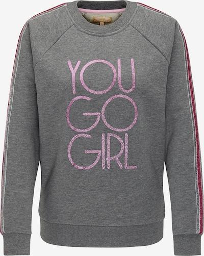 MYMO Sweat-shirt en gris / rose: Vue de face