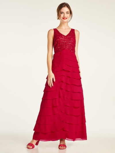 heine Abendkleid in rot, Modelansicht