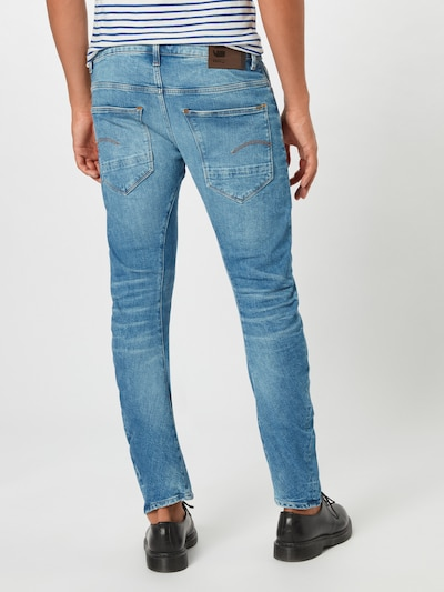 Jeans 'arc 3d slim' G-Star RAW pe denim albastru: Privire spate