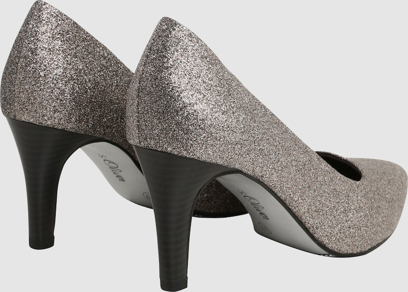 s.Oliver RED LABEL Pumps mit Glitzerbesatz