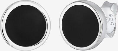 PAULO FANELLO Ohrringe 'Geo' in schwarz / silber, Produktansicht