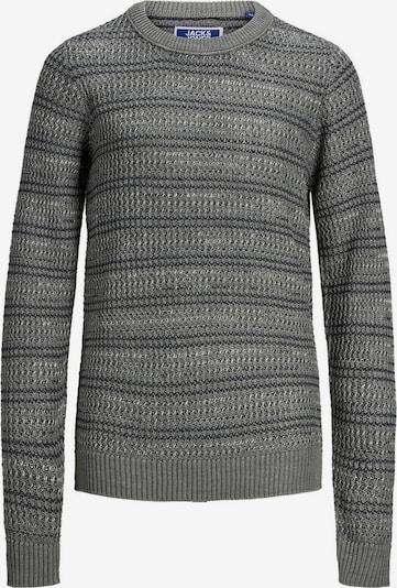 Jack & Jones Junior Pullover in dunkelgrau / schwarz, Produktansicht