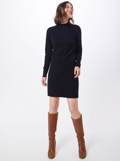 OBJECT Gebreide jurk in de kleur Zwart, Modelweergave