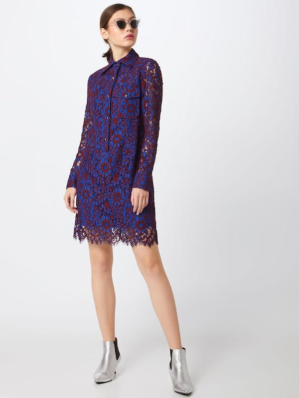 Calvin 'lace En Robe Violet Dress Ls' Klein chemise Tl1FcK3J