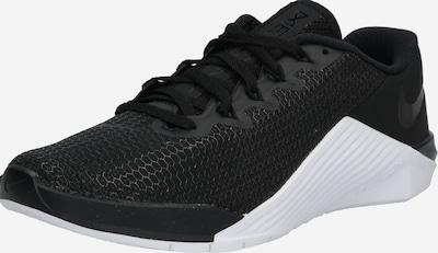 NIKE Sporta apavi 'Metcon 5' melns / balts, Preces skats