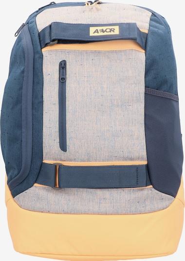 AEVOR Rucksack in beige / himmelblau / gelb, Produktansicht