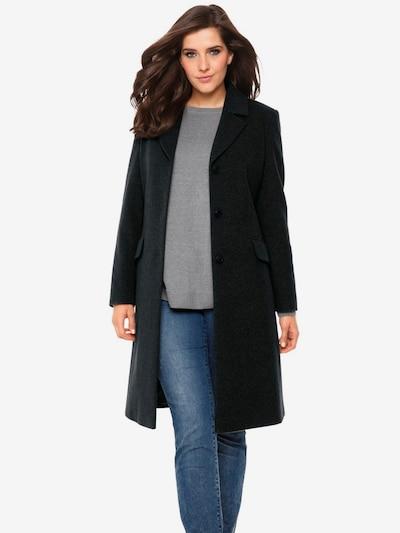 Demisezoninis paltas iš heine , spalva - juoda, Modelio vaizdas