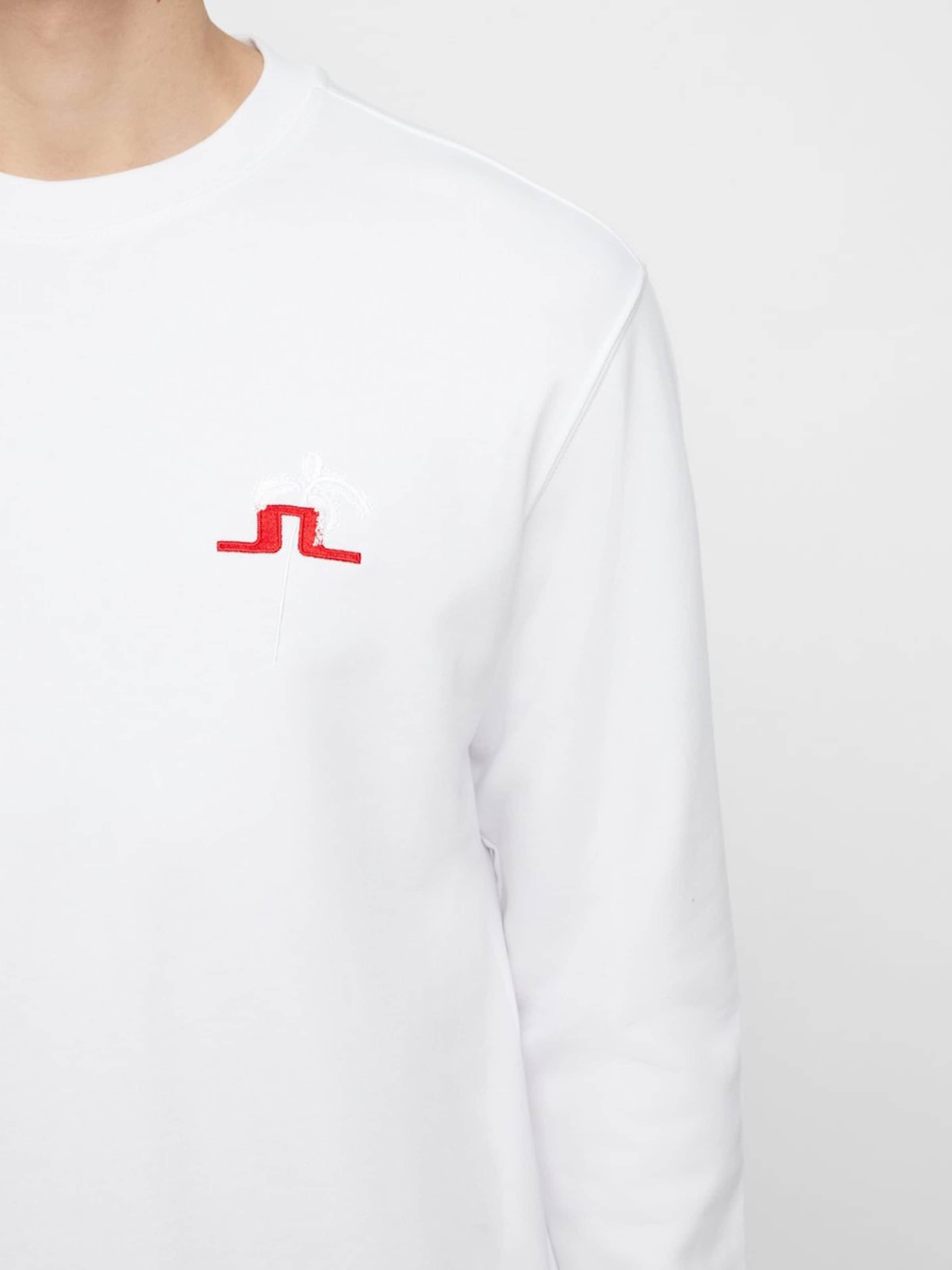 In J lindeberg Sweatshirt Weiß 'hurl' PuOkXZi