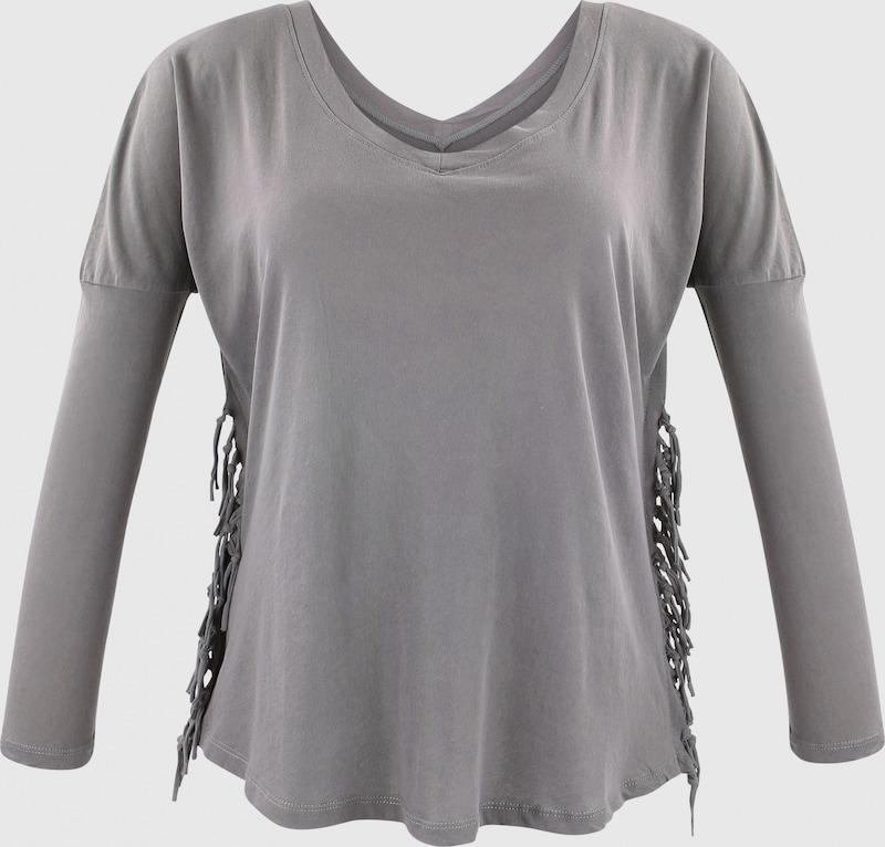 Trueprodigy Langarmshirt in grau  Freizeit, schlank, schlank