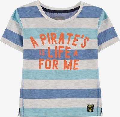 KANZ T-Shirt in taubenblau / hellblau / orange / weiß, Produktansicht
