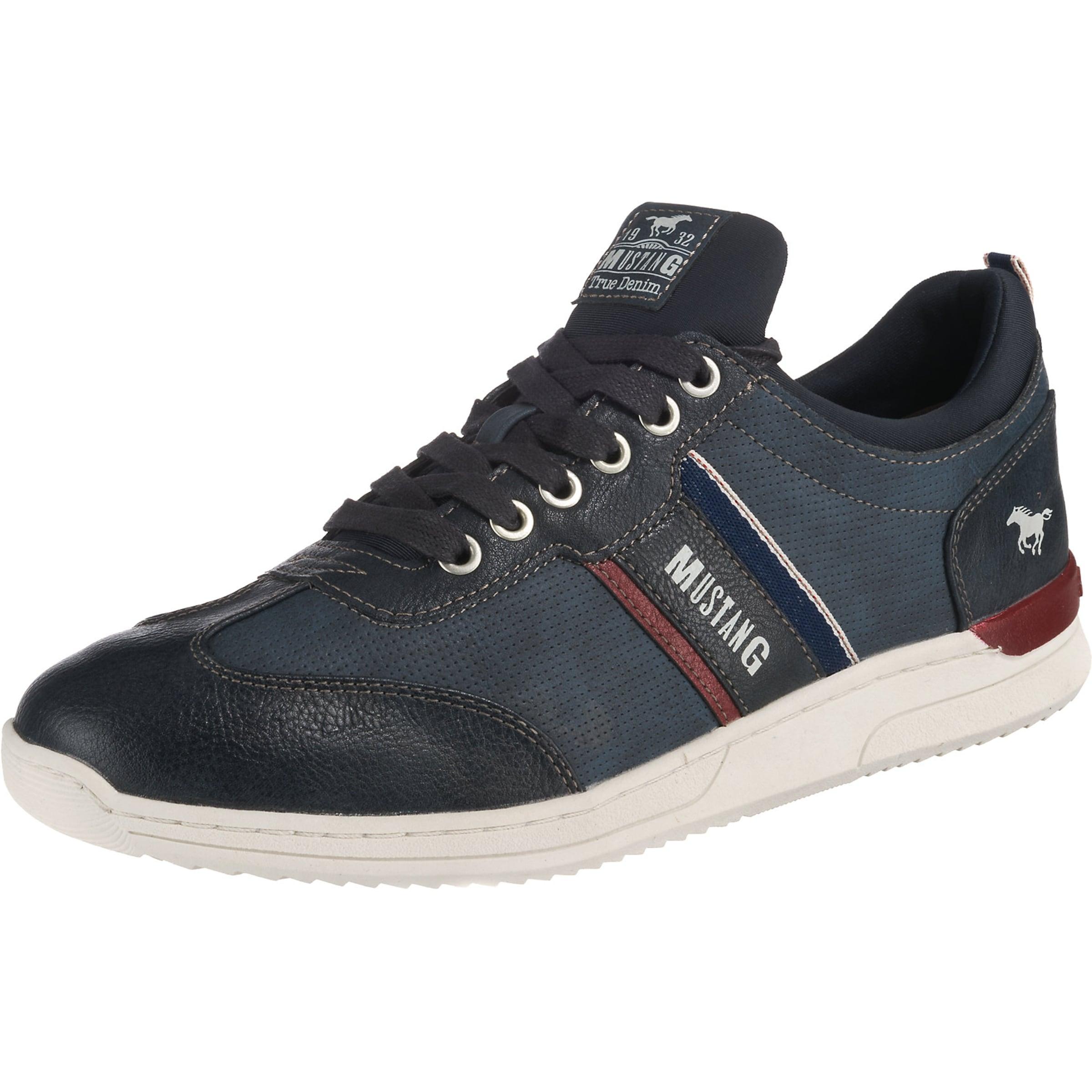 Blue Mustang In Low Sneakers DenimDunkelblau Rot RcLq534Aj