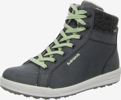 LOWA Stiefel in dunkelgrau / mint, Produktansicht