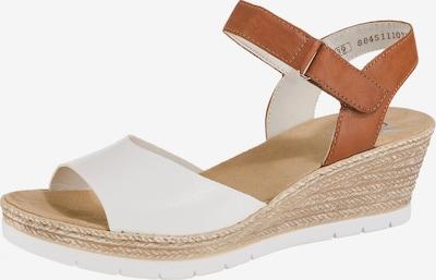 RIEKER Sandale in braun / weiß, Produktansicht