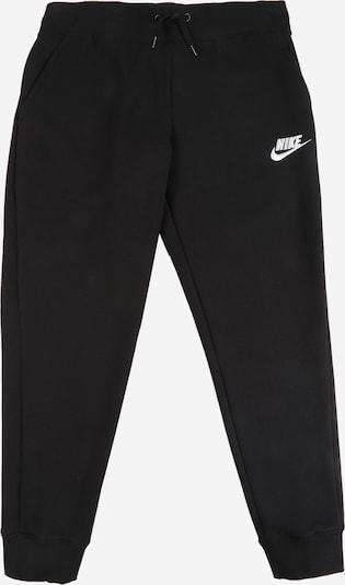Nike Sportswear Pantalon en noir / blanc: Vue de face